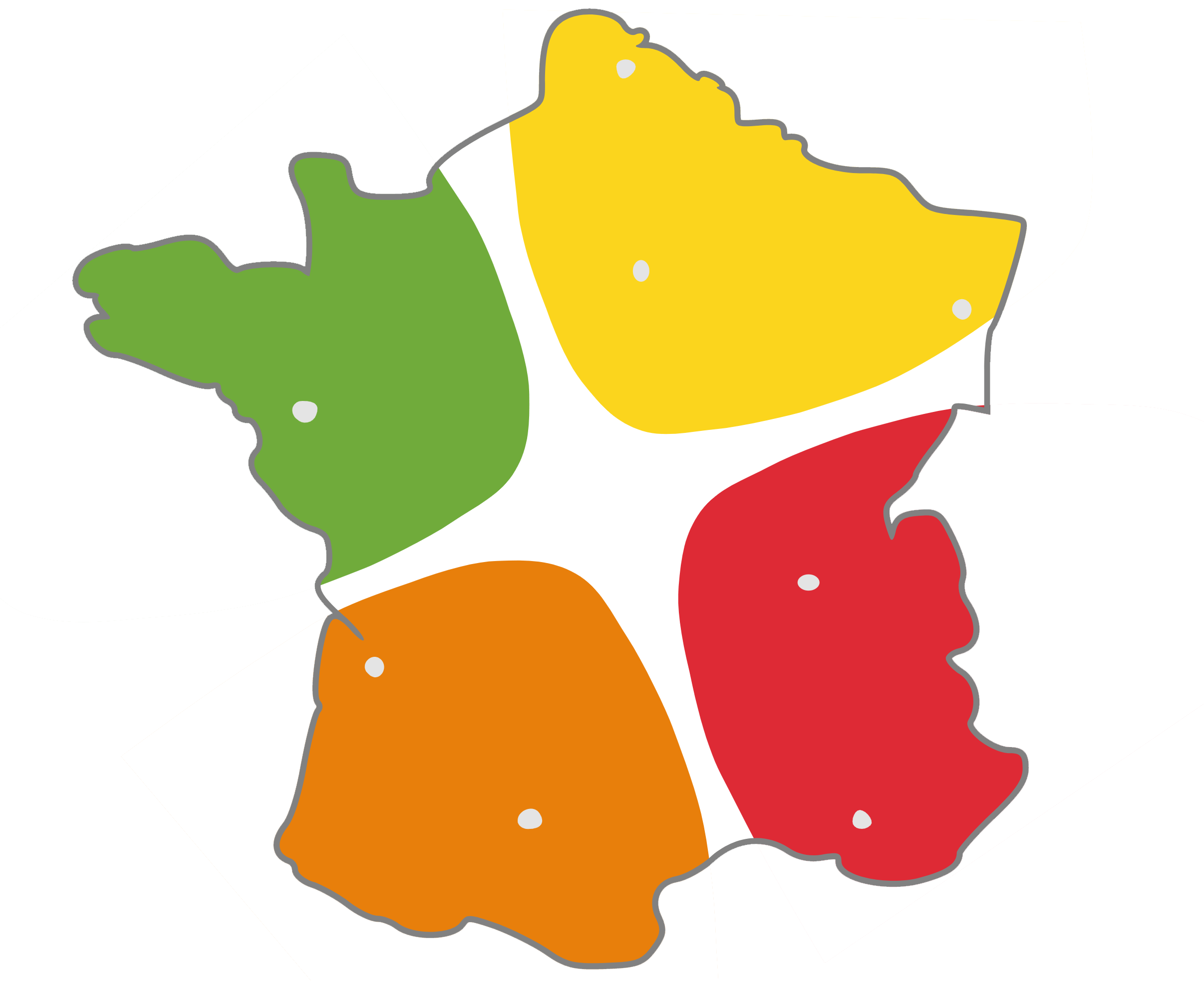 Carte de France - Coaching Ways France